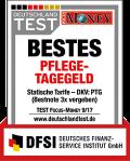 Testurteil Focus Money zur DKV Pflegezusatzversicherung PTG